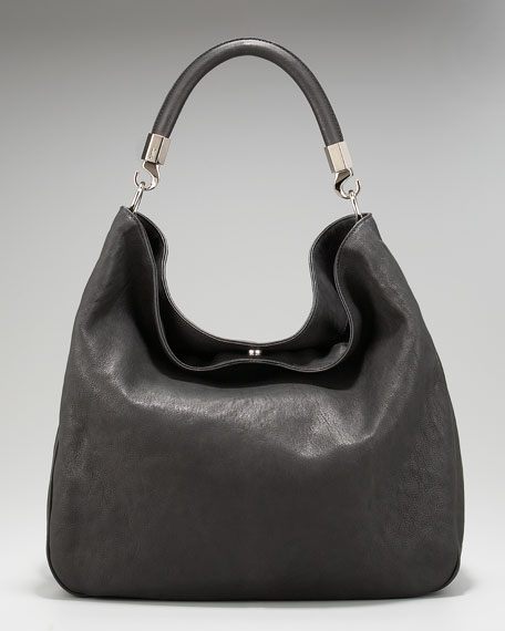 Roady Ranch Leather Hobo, Black
