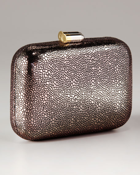 Margo Draped Maille Mini Box Clutch With Drop In Chain