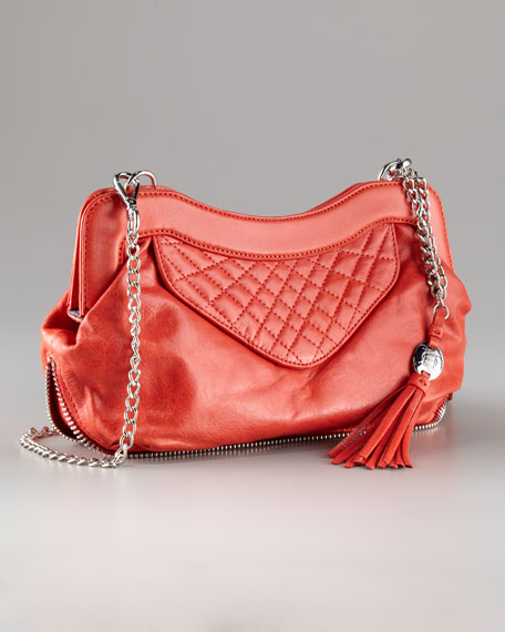 Crossbody Quilted Lambskin Clutch