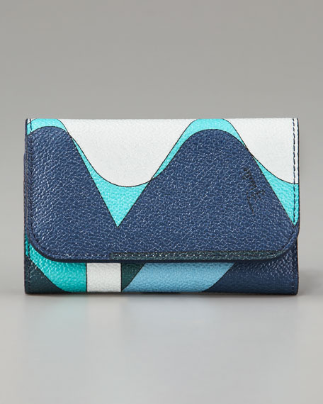 Printed Coated Canvas Key Case