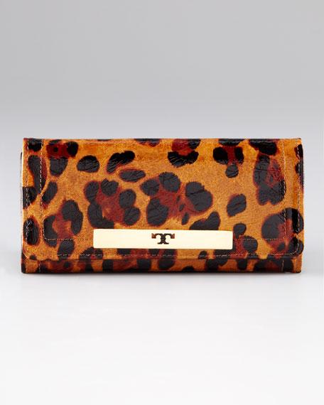 Ainsley Envelope Continental Leopard Wallet