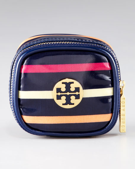 Jewelry Striped Cosmetic Case