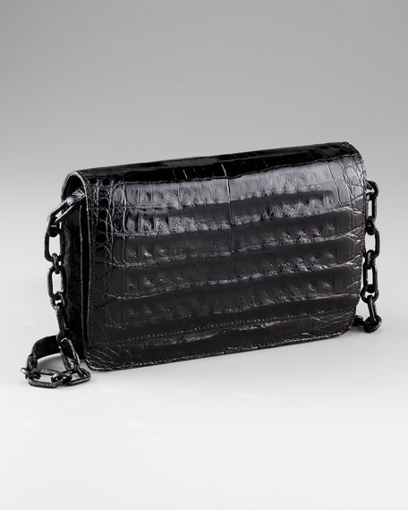 Crocodile Wallet on Chain, Black-Red