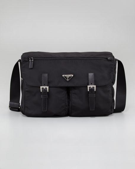 Prada Nylon Hunting Bag, Large