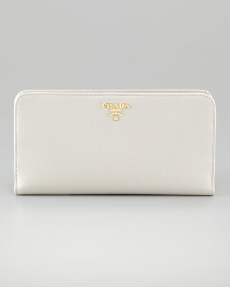 Saffiano Tricolor Leather Wallet