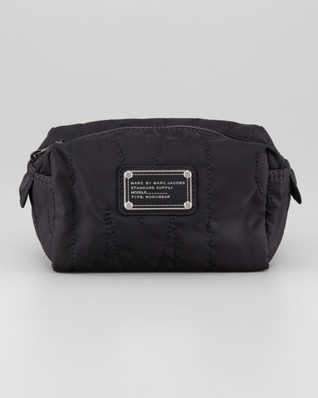 Pretty Nylon Small Cosmetic Case, Black