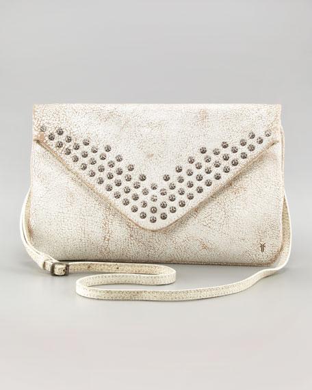 Brooke Stud Envelope Clutch Bag, White