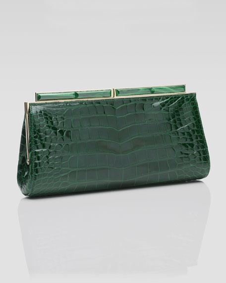 Aurelie Crocodile Form Clutch Bag