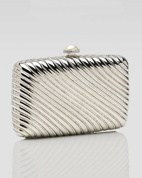 Ribbed Rectangular Minaudiere
