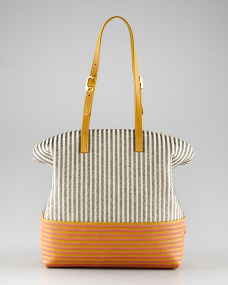 Two-Tone Embroidered Bag