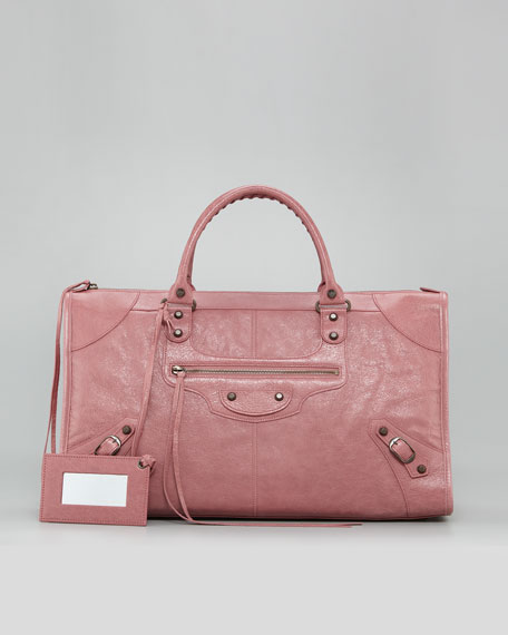 Classic Work Bag, Rose Bruyere