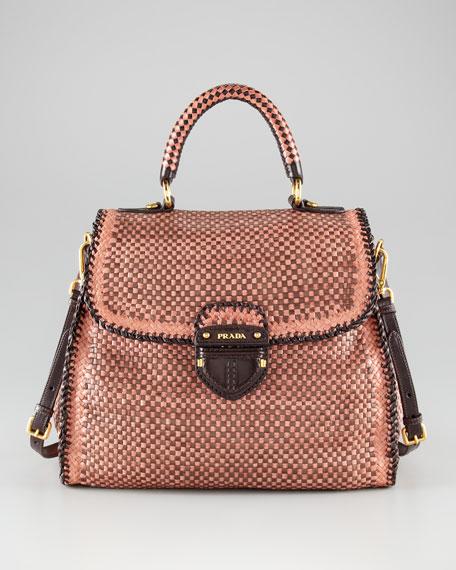 prada tri fold wallet - Prada Madras Woven Bag
