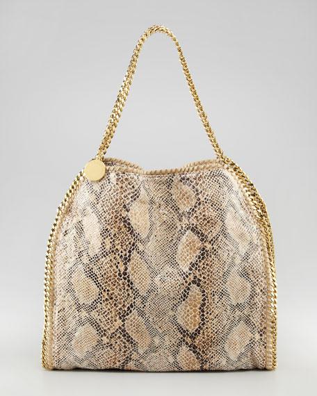 Snake-Print Falabella Tote Bag, Small