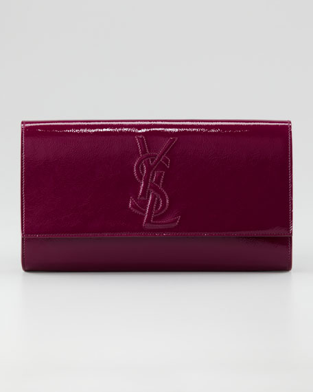 Belle De Jour Patent Clutch Bag, Large