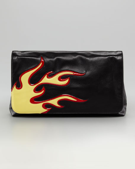 Flame Flap Clutch Bag