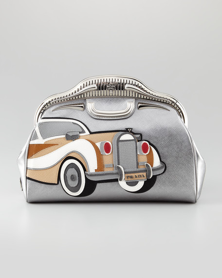 50s Cars Saffiano Clutch Bag