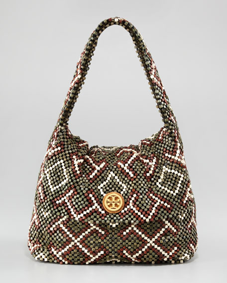 Wooden Beaded Shoulder Bag