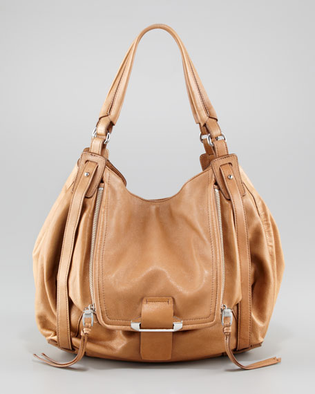 Jonnie Zip Tote Bag, Camel