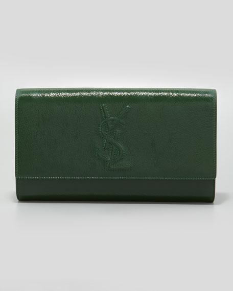 Belle De Jour Large Patent Clutch Bag