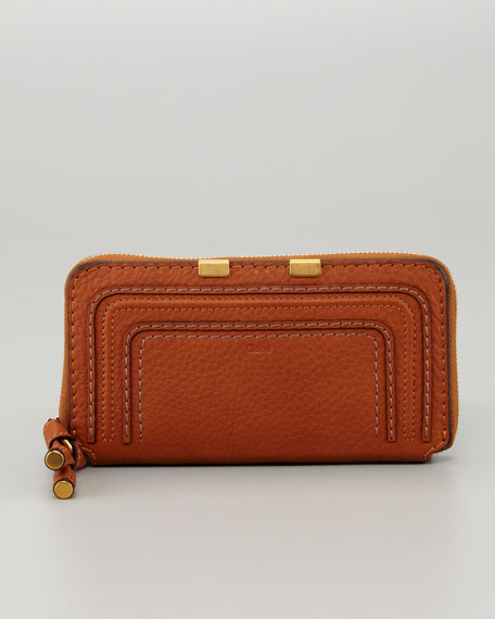 Marcie Continental Zip Wallet, Brown