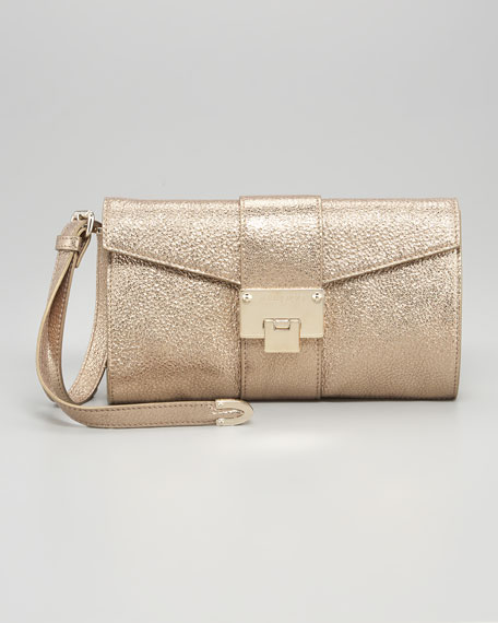 Riviera Small Wristlet, Gold