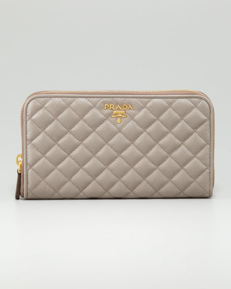 Quilted Saffiano Leather