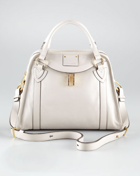Classic Wellington Satchel Bag, Pearl