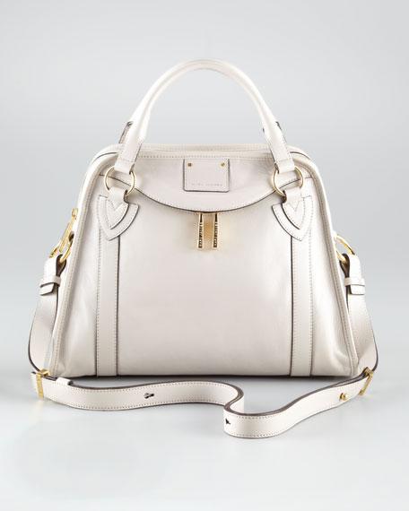 Classic Wellington Satchel Bag, Pearl