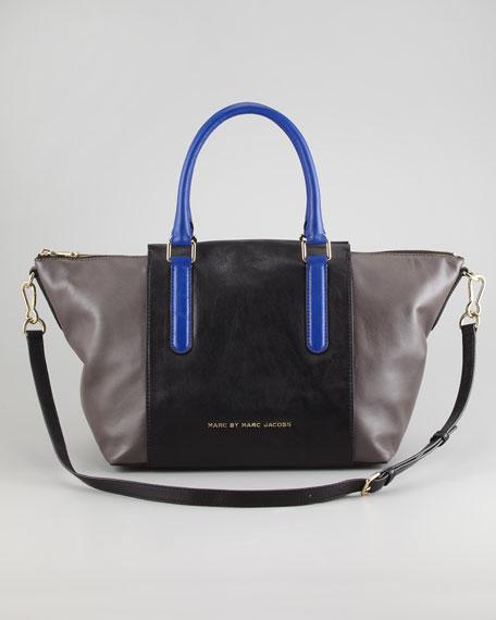 Large Colorblock Satchel Bag