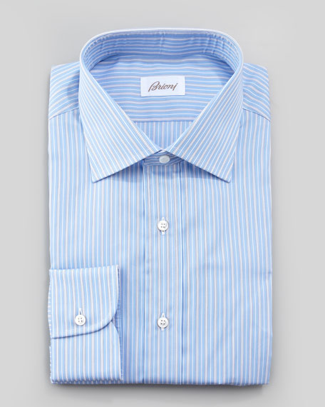 Track-Stripe Dress Shirt