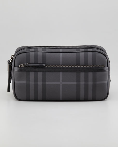 Wet Pack Check Travel Toiletry Bag
