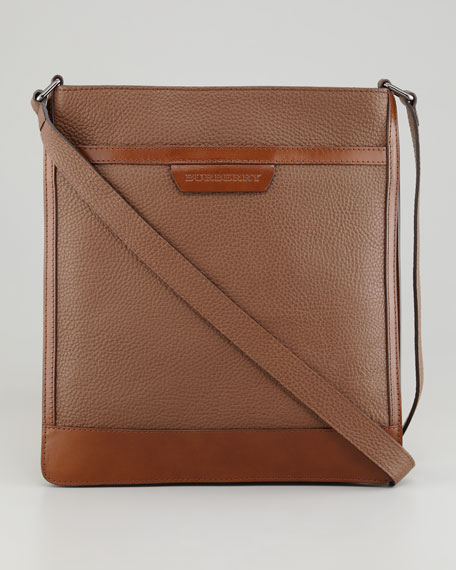 Leather Hip Satchel, Dark Brown