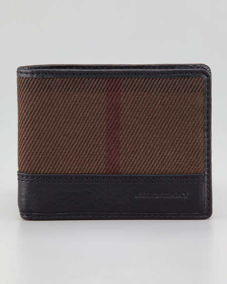 Tan Check Hipfold Wallet