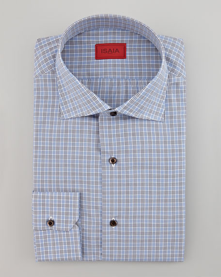 Check Dress Shirt, Gray/Blue