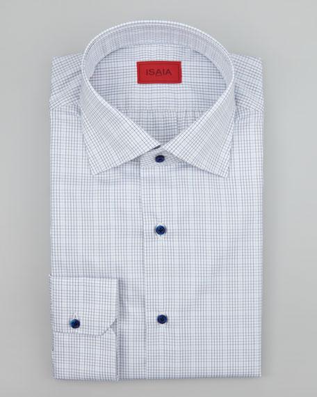Mini Graph-Check Dress Shirt, Blue