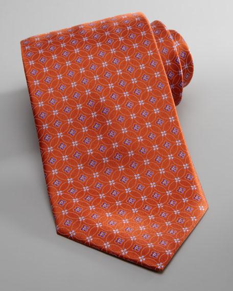 Flower & Circle Tie