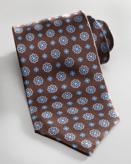 Floral-Neat Silk Tie