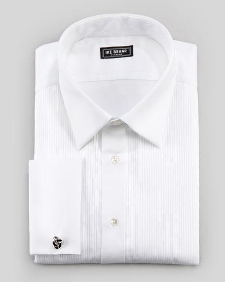 Pleated Tuxedo Shirt