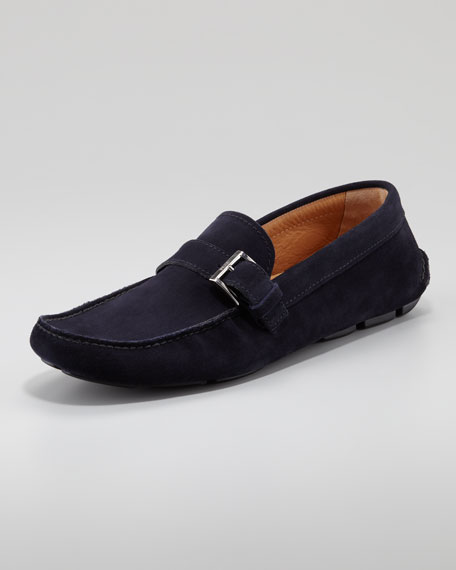 Suede Buckled Driver