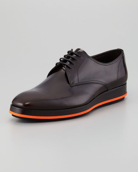 Spazzolato Lace-Up Wing-Tip