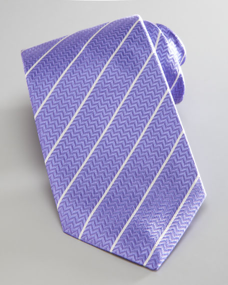 Striped Tie, Lavender