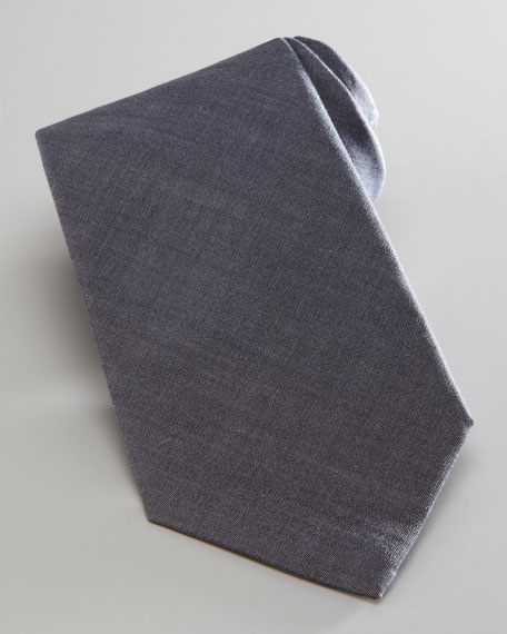 Solid Cotton Tie, Gray