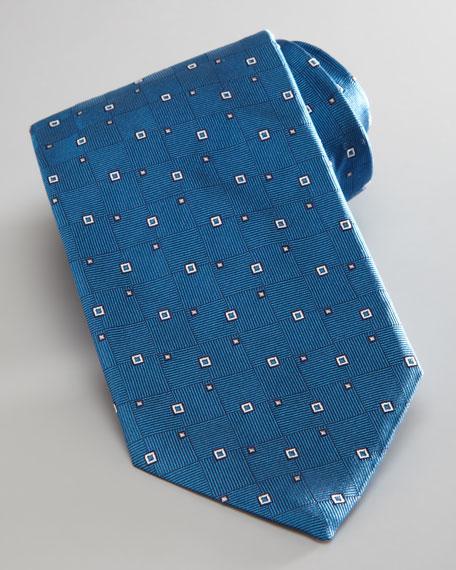 Geometric Neat Tie, Teal