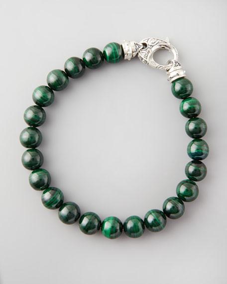 Beaded Malachite Bracelet, 8mm