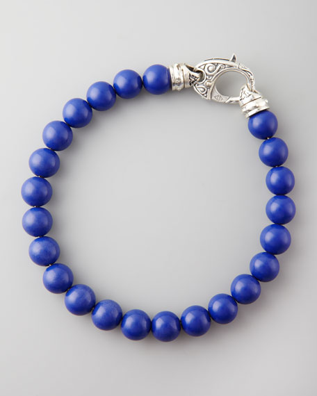 Beaded Lapis Bracelet, 8mm