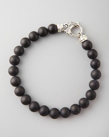 Beaded Onyx Bracelet, 8mm