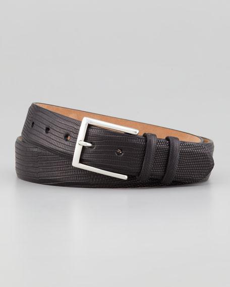 Matte Lizard Belt, Black