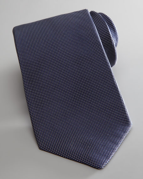 Nailhead Textured Silk Tie, Navy