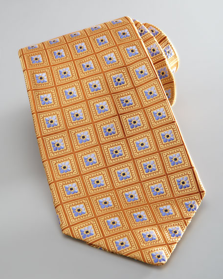 Neat Diamond Tie, Gold