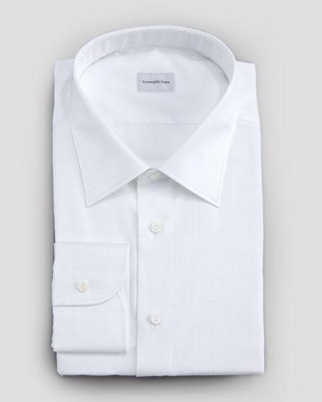 Windowpane Button-Down Shirt